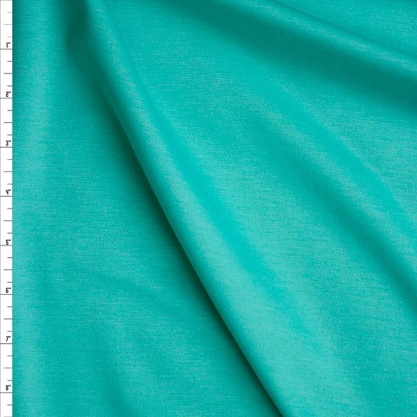 Aqua Solid Ponte De Roma Fabric By The Yard
