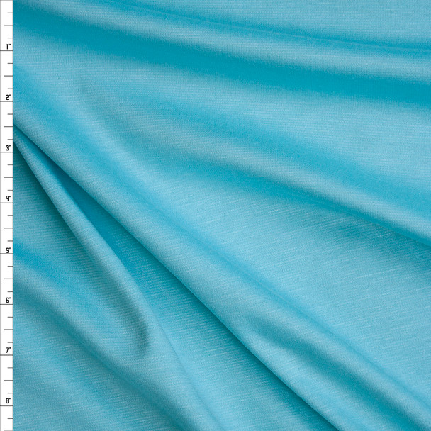 Robins Egg Blue Solid Ponte De Roma Fabric By The Yard