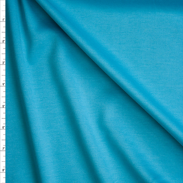 Bright Sky Blue Solid Ponte De Roma Fabric By The Yard