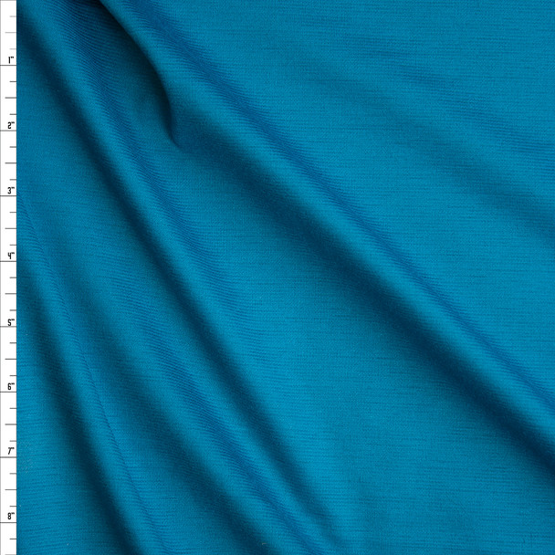 Teal Solid Ponte De Roma Fabric By The Yard