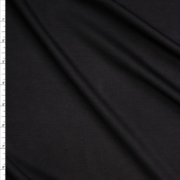 Black Stretch Solid Ponte De Roma Fabric By The Yard