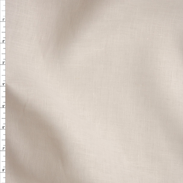 Warm Offwhite Lightweight Linen Fabric By The Yard