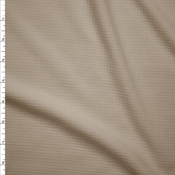 Solid Oatmeal Braided Texture Liverpool Knit Fabric By The Yard