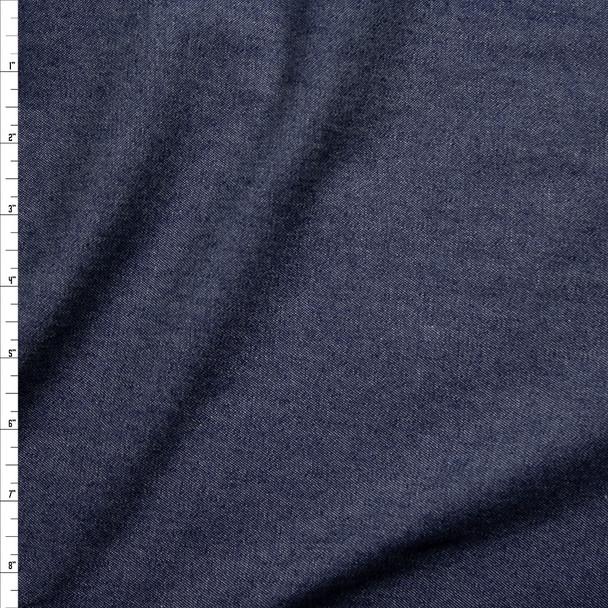 Dark Blue Lightweight Denim Fabric By The Yard