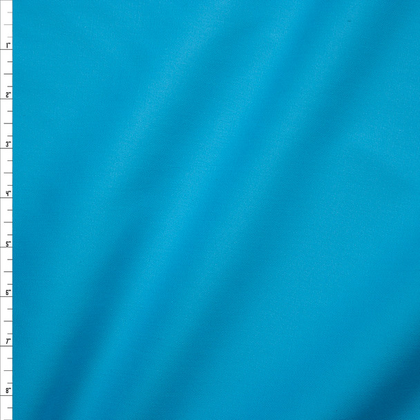 Light Turquoise Midweight Stretch Cotton Canvas Fabric By The Yard
