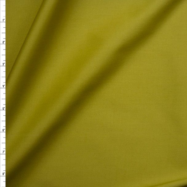 Avocado Green Midweight Stretch Sateen Fabric By The Yard