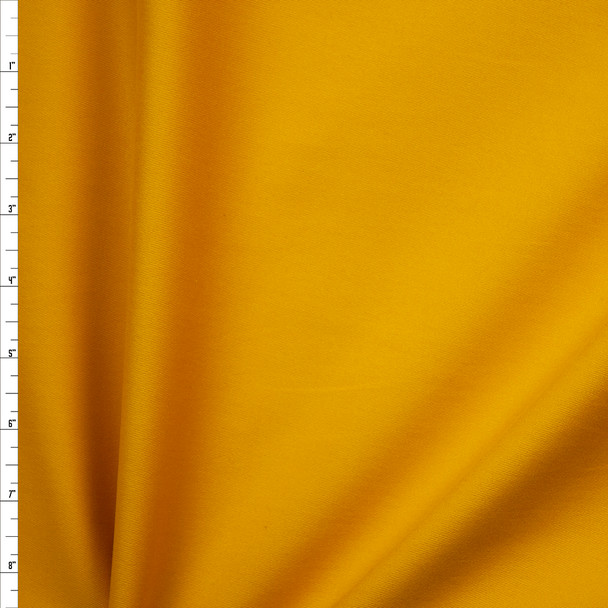 Mustard Yellow Brushed Midweight Cotton Twill Fabric By The Yard