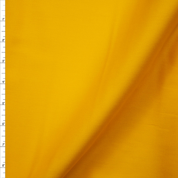 Sunbeam Yellow Stretch Cotton Twill Fabric By The Yard