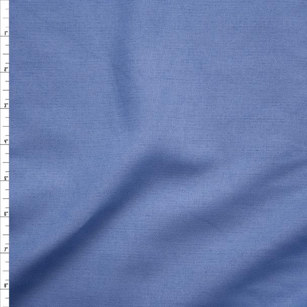 Light Blue Cotton/Linen Poplin Fabric By The Yard