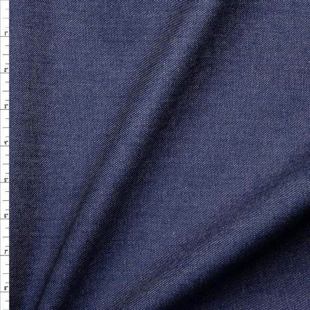 Medium Blue 10oz Stretch Denim Fabric By The Yard