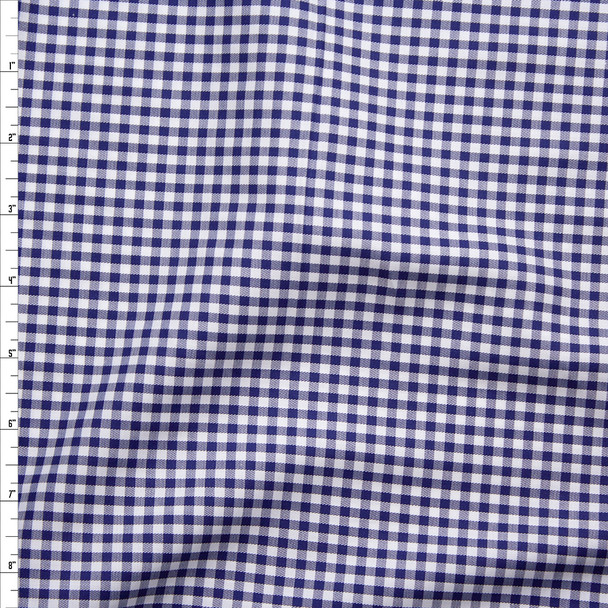 Navy and White Plaid Fine Twill Weave Shirting from 'Brooks Brothers' Fabric By The Yard