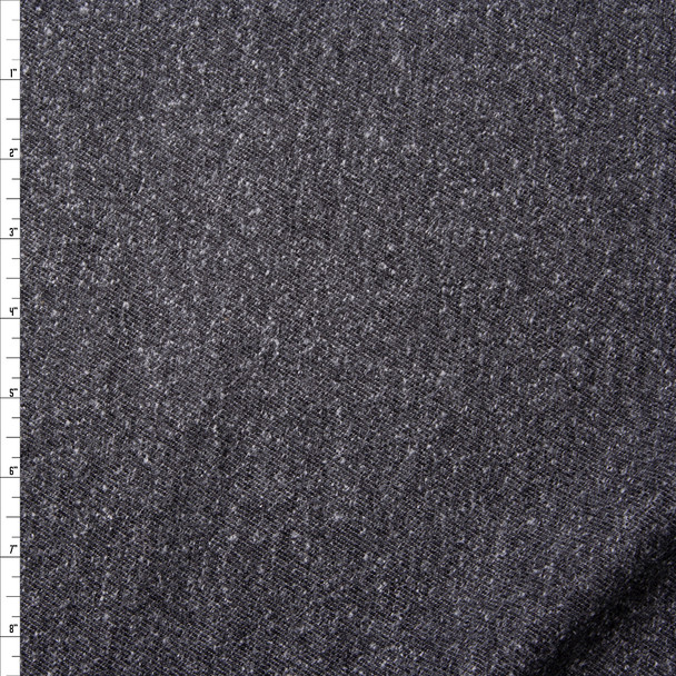 Charcoal Slubbed Midweight Flannel from 'Brooks Brothers' Fabric By The Yard