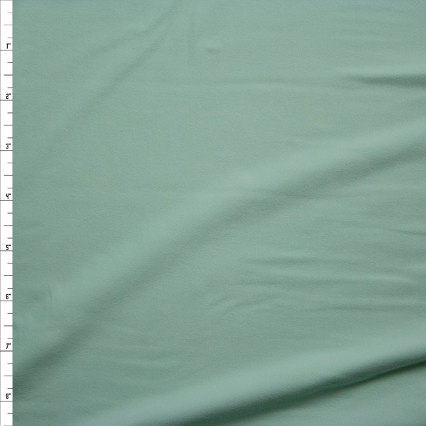 Baby Mint Green Double Brushed Poly/Spandex Knit Fabric By The Yard