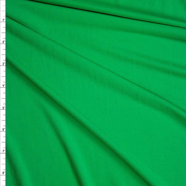 Bright Green Double Brushed Poly/Spandex Knit Fabric By The Yard