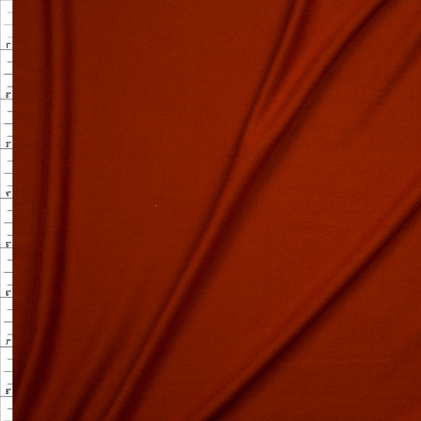 Rust Double Brushed Poly/Spandex Knit Fabric By The Yard