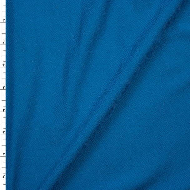 Teal Crepe-Like Liverpool Knit Fabric By The Yard