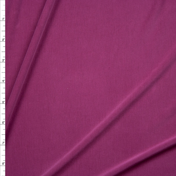 Magenta Sand Washed Poly/Modal Jersey Knit Fabric By The Yard