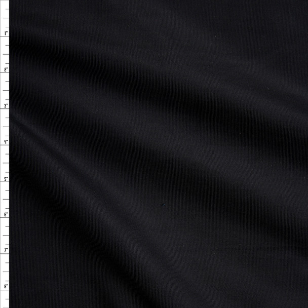 Black Midweight Stretch Corduroy #20239 Fabric By The Yard