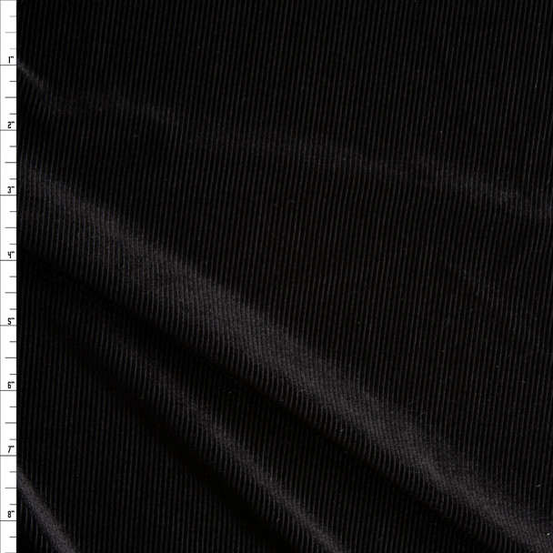 Black 4-way Stretch Corduroy Fabric By The Yard