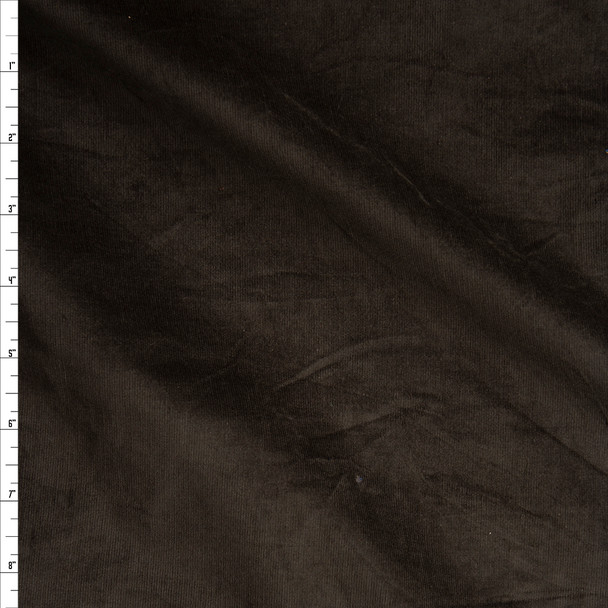 Dark Brown Midweight Stretch Corduroy Fabric By The Yard
