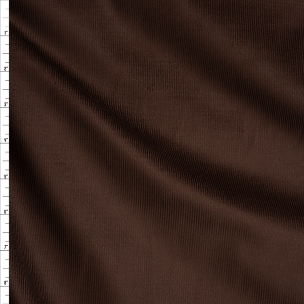 Chocolate Brown Midweight Corduroy Fabric By The Yard
