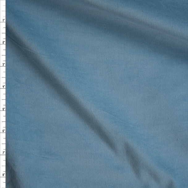 Light Blue Midweight Stretch Corduroy Fabric By The Yard