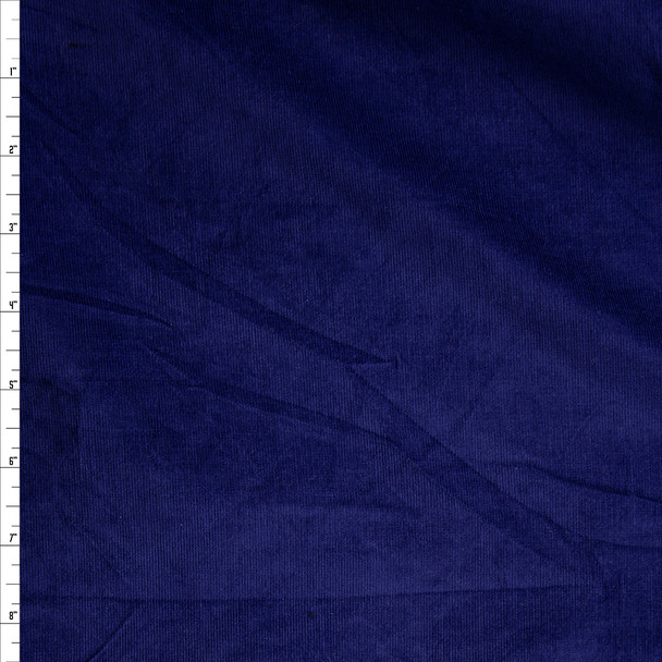 Dark Royal Blue Lightweight Stretch Corduroy Fabric By The Yard