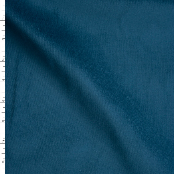 Teal Midweight Stretch Corduroy Fabric By The Yard