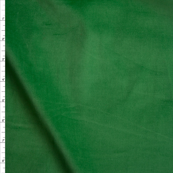 Green Midweight Stretch Corduroy Fabric By The Yard