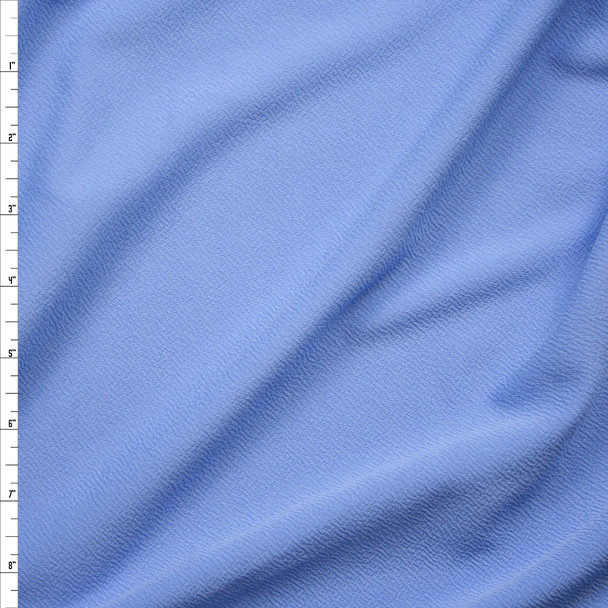 Light Blue Crepe Textured Liverpool Knit Fabric By The Yard
