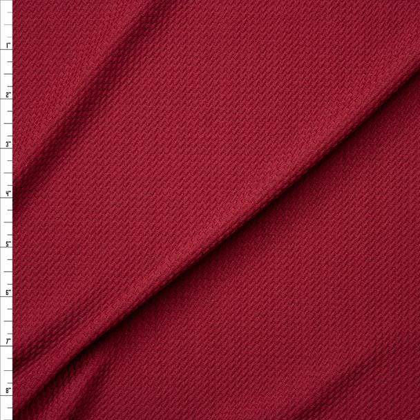 Solid Burgundy Bullet Liverpool Knit Fabric By The Yard
