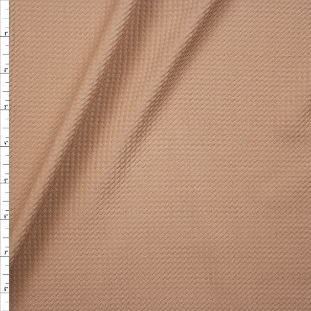 Solid Tan Bullet Liverpool Knit Fabric By The Yard