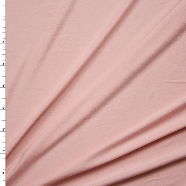 Blush Pink Double Brushed Poly Spandex Knit Fabric By The Yard