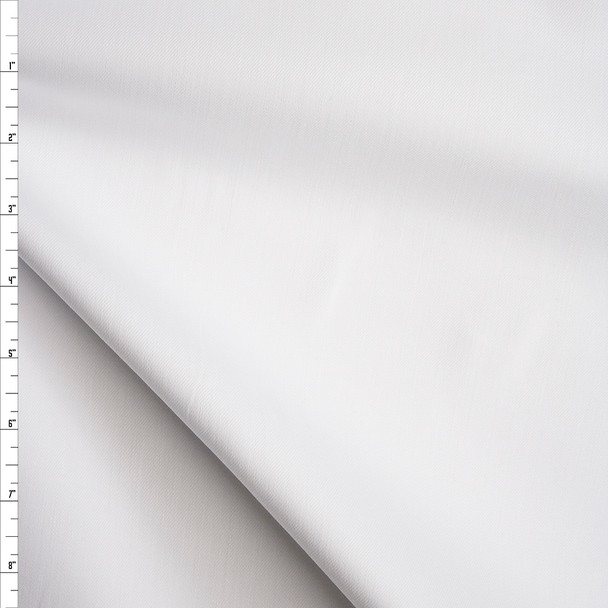White Heavy Stretch Twill Fabric By The Yard