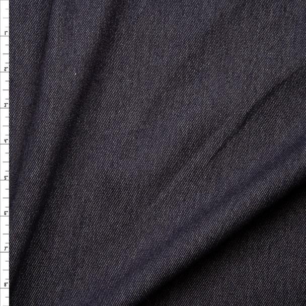Dark Blue Heavy Denim Look Knit Fabric By The Yard