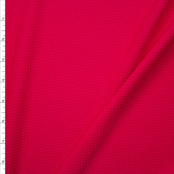 Solid Hot Pink Bullet Liverpool Knit Fabric By The Yard