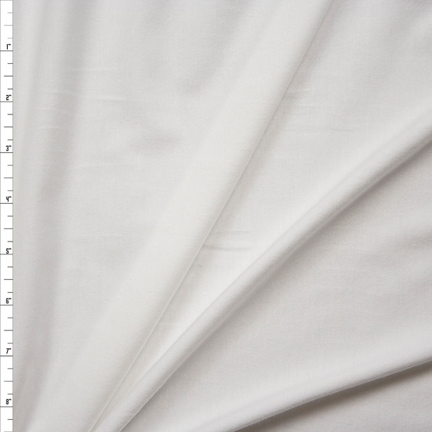Warm White Stretch Cotton Bamboo Jersey Knit Fabric By The Yard