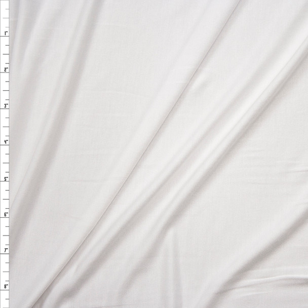 White Stretch Cotton Viscose Jersey Knit Fabric By The Yard