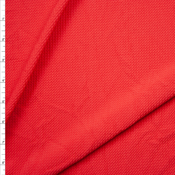 Solid Strawberry Bullet Liverpool Knit Fabric By The Yard