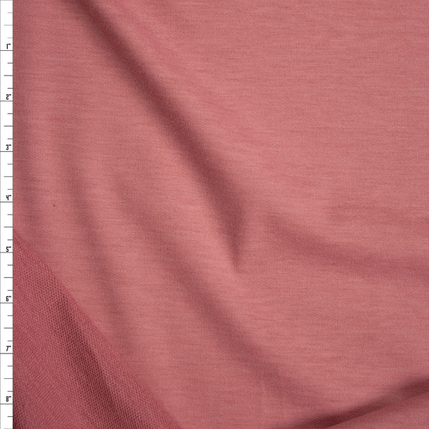 Dusty Pink Poly/Rayon French Terry Fabric By The Yard
