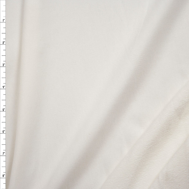 Offwhite Stretch Rayon French Terry Fabric By The Yard