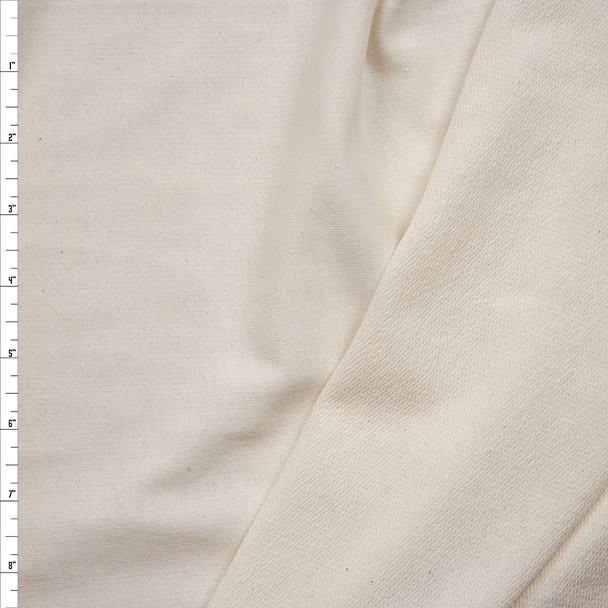 Natural Lightweight Cotton/Poly French Terry Fabric By The Yard