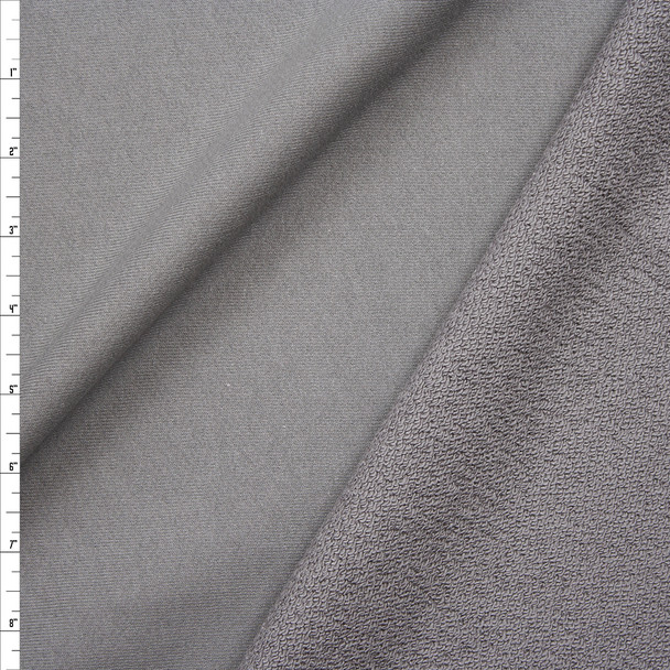 Grey Heavyweight Cotton French Terry Fabric By The Yard