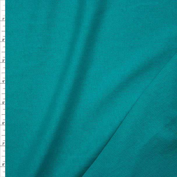 90's Teal Lightweight Cotton French Terry Fabric By The Yard