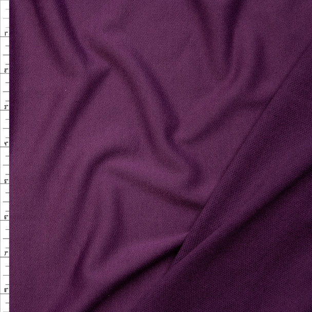 Plum Poly/Rayon French Terry Fabric By The Yard