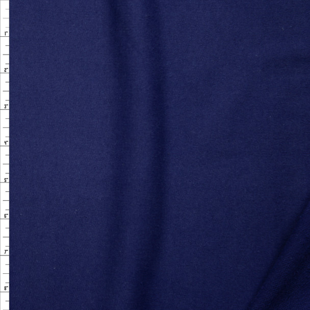 Navy Light Midweight Cotton French Terry Fabric By The Yard