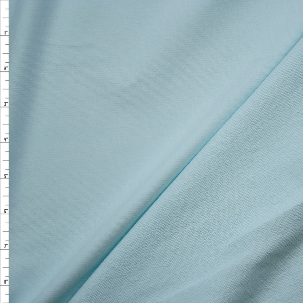 Light Robins Egg Blue Midweight Cotton French Terry Fabric By The Yard