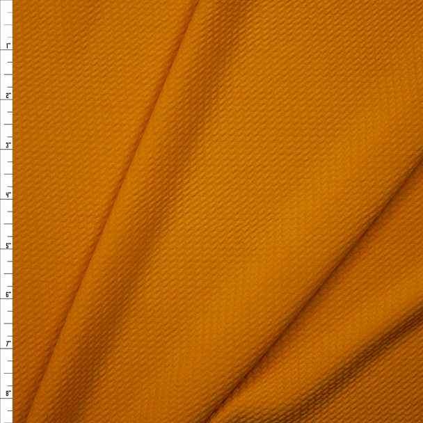 Solid Mustard Bullet Liverpool Knit Fabric By The Yard