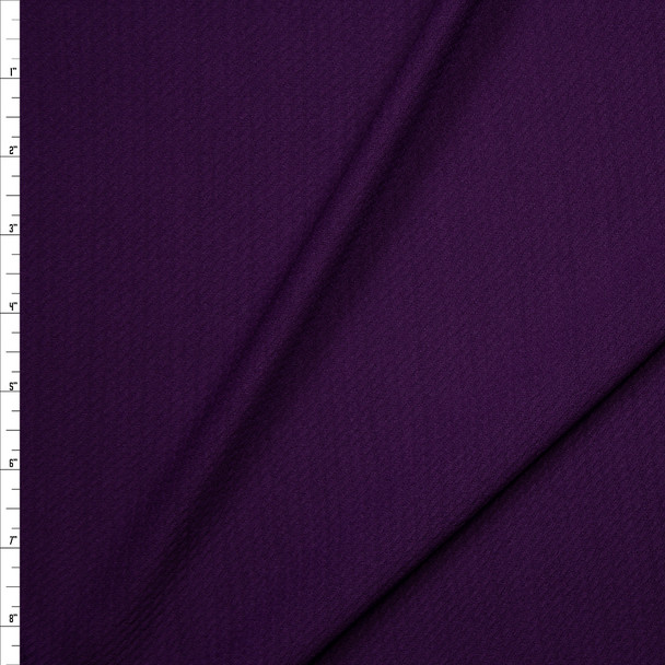Solid Plum Bullet Liverpool Knit Fabric By The Yard