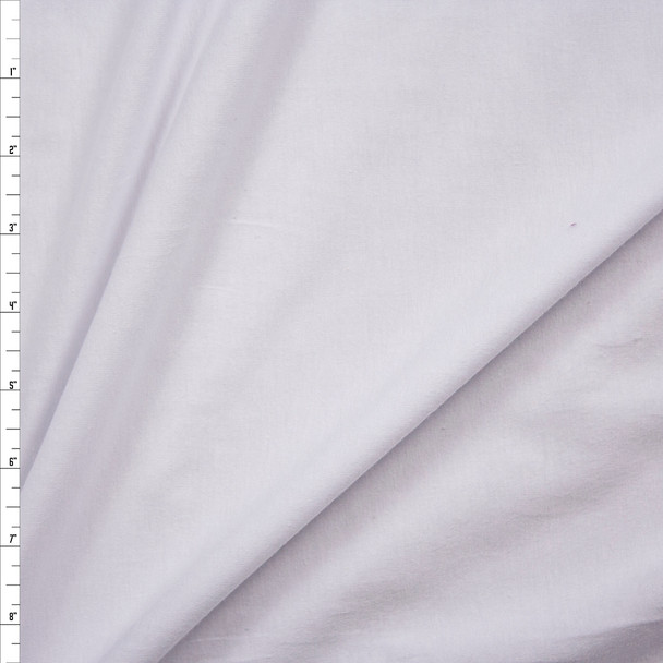 White Light Midweight Cotton/Spandex Jersey Knit Fabric By The Yard